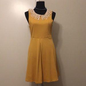 Free people mustard dress size small